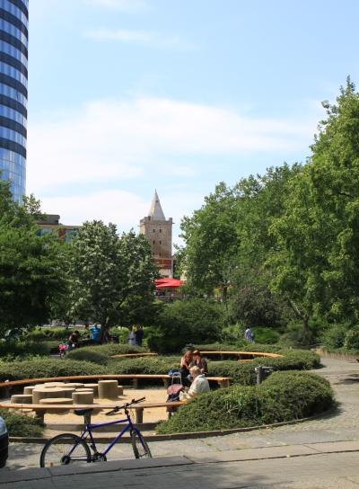 Die Grünanlage auf dem Eichplatz