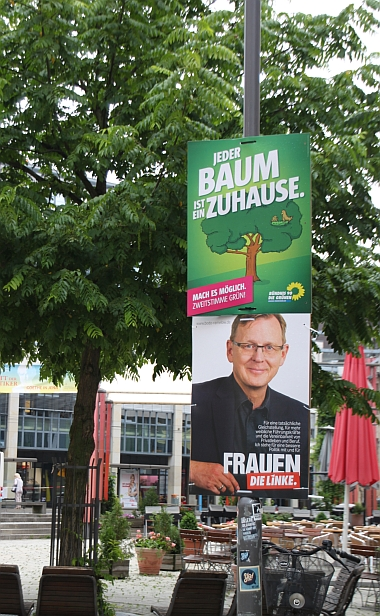 Wahlwerbung_Gruen_Linke