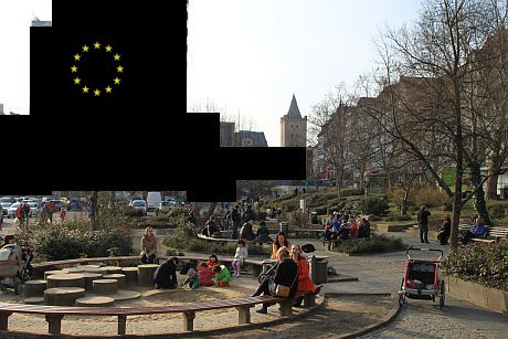 Der Eichplatz in Jena - von der EU zensiert