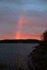Regenbogensegment nach Sonnenuntergang und Dauerregen,, irgendwo auf Neufundland